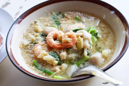 Seafood vermicelli soup - Sukiyaki photo