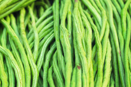 long bean: long bean at market Stock Photo