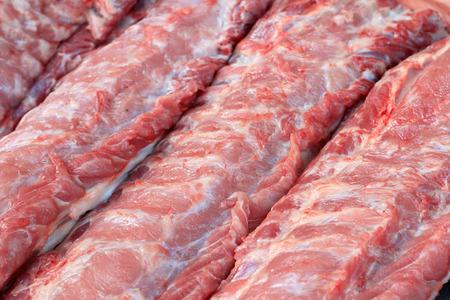 Streaky pork textured - in the market 写真素材