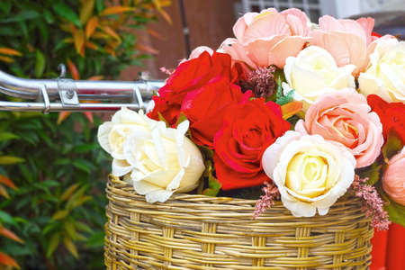 beautiful of rose artificial flowers photo
