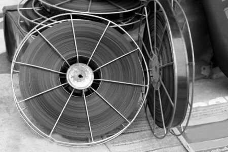 movie film reel: Antiguo rollo de pel�cula de cine Foto de archivo