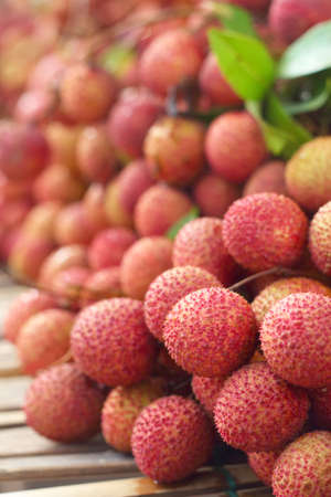 lichee: Close up a lot of lychee