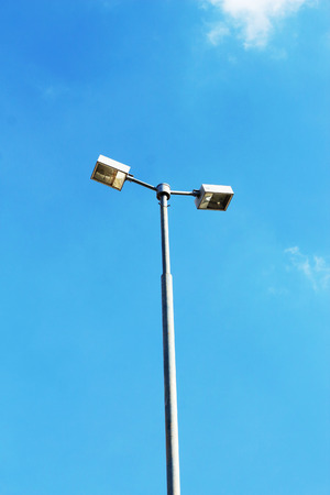 halogen lighting: Stadium light pole in the sky