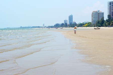 The Cha Am beach of Thailand photo
