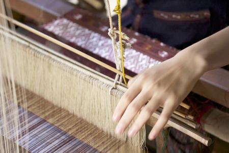 Handmade weaving thread Foto de archivo