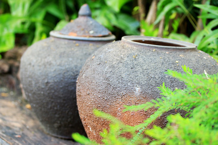 earthen: Earthen jars water