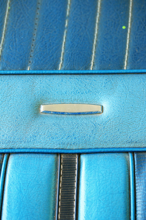 blue leather sofa: Close-up texture of vintage blue leather sofa
