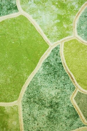 green tile mosaics background texture photo