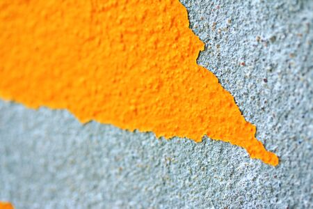Cement wall with peeling paint photo