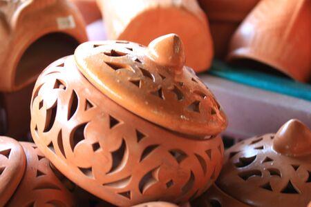 Earthenware brown - for dessert Thailand. photo