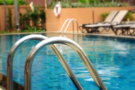 stair: Swimming pool with stair