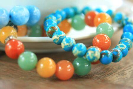 jade: Bracelet bright colors - jade