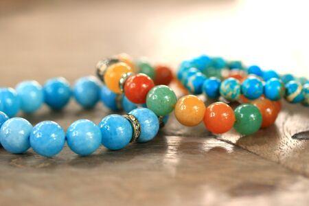 green tourmaline: Bracelet bright colors - jade