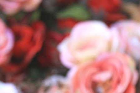 blurred beautiful vintage roses of artificial flowers photo
