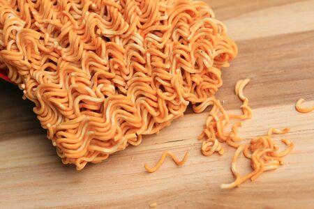 instant noodle: Dry instant noodle Stock Photo