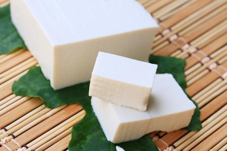 Japanese tofu Stock Photo