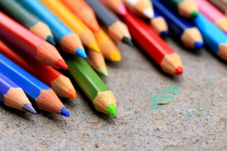 red pencil: Colorful pencils