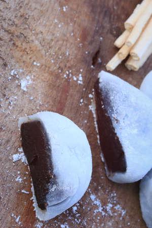 japanese dessert: Mochi japanese dessert black sesame