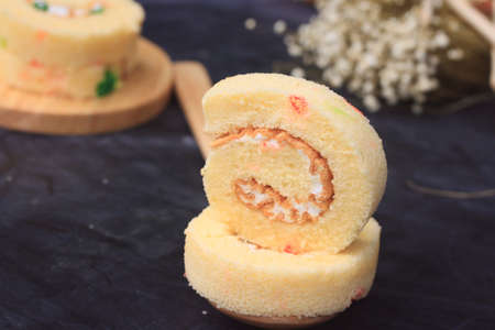 delectable: Roll cake Stock Photo