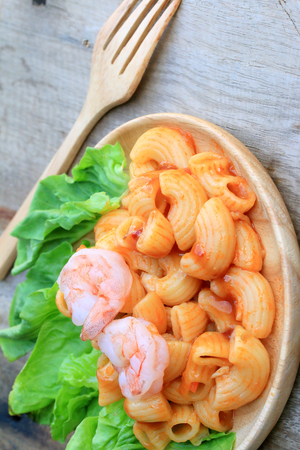 macarrones: Macarrones con camarones