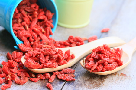 Red dried goji berries Stock Photo - 42232927