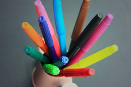 markers: Colorful markers pens Stock Photo