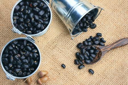 heap black beans