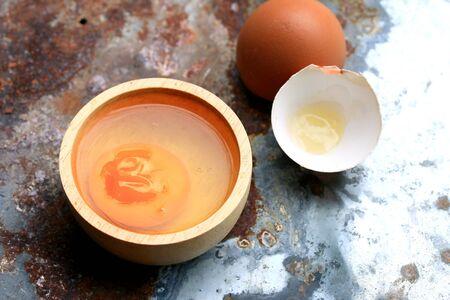 putrid: old eggs on zinc