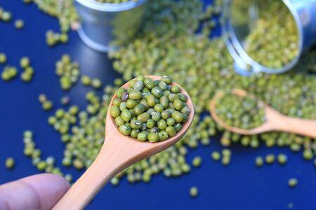 heap: heap green beans dried Stock Photo