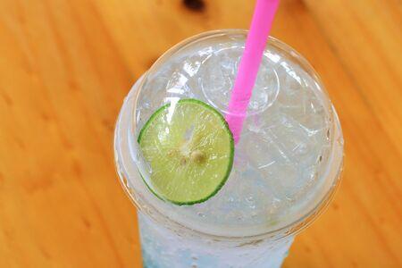 blue hawaiian drink: mix blue water soda with lemon