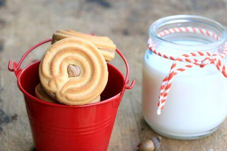 cookies and cream: tasty cream cookies and milk