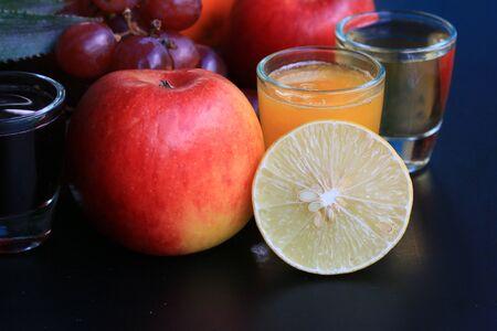 mix fruit: Mix fruit and juice Stock Photo