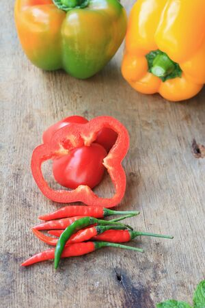 sweet peppers: colorful sweet peppers Stock Photo