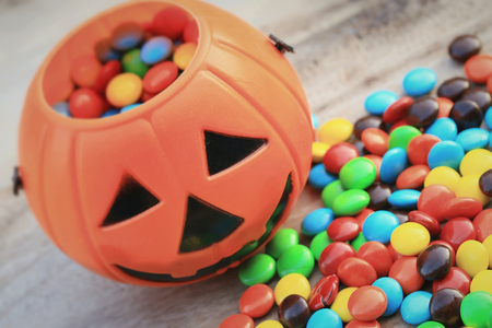 candy chocolate halloween Stock Photo