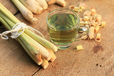 lemon grass hot tea Stock Photo