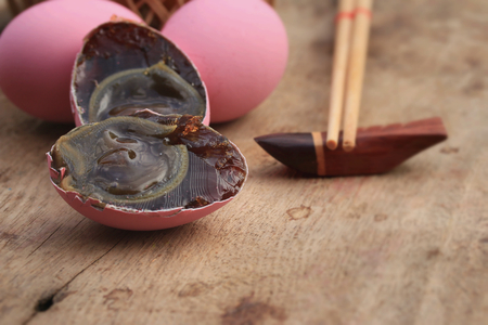 preserved: pink pickled preserved egg