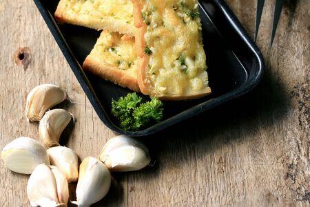 garlic: Bread garlic with butter
