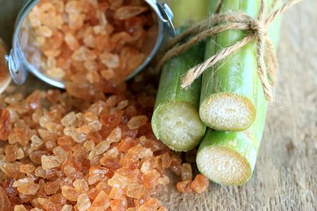 Organic cane sugar brown Archivio Fotografico
