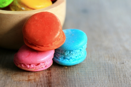 dark pastel green: traditional french colorful macaroons Stock Photo