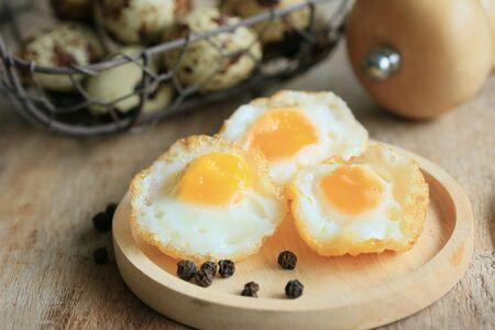 japanese quail: A lot fried quail eggs