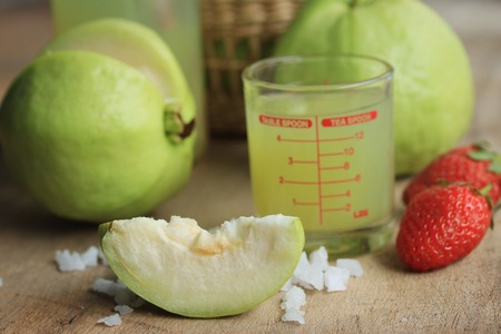 guava fruit: fresh guava fruit juice