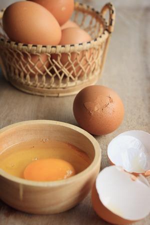 yolks: egg yolks Stock Photo