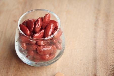 red bean: yogurt with red bean