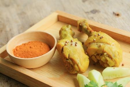 biryani: Chicken biryani - turmeric powder Stock Photo