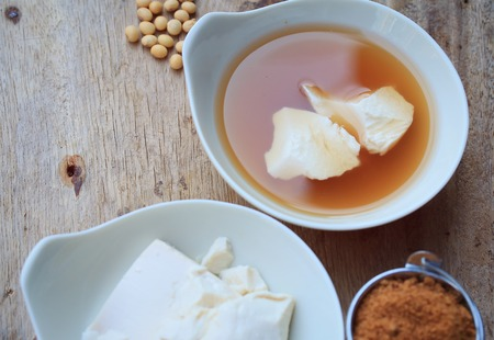 curd: soybean curd and fresh ginger