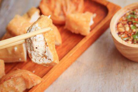 crispy: taro fried and tofu