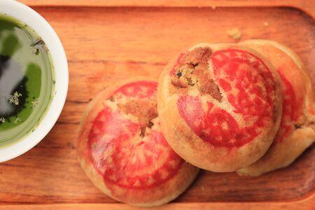 oriental poppy: Festival moon cake and grren tea - Chinese cake