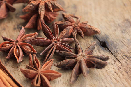 anice: star anise and cinnamon Stock Photo
