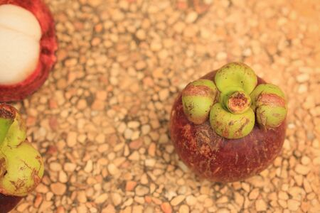 mangosteen: Mangosteen fruit Stock Photo