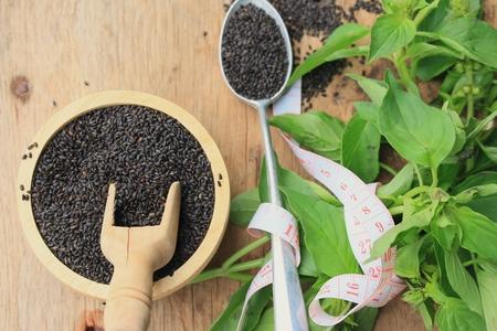 basil seed with fresh